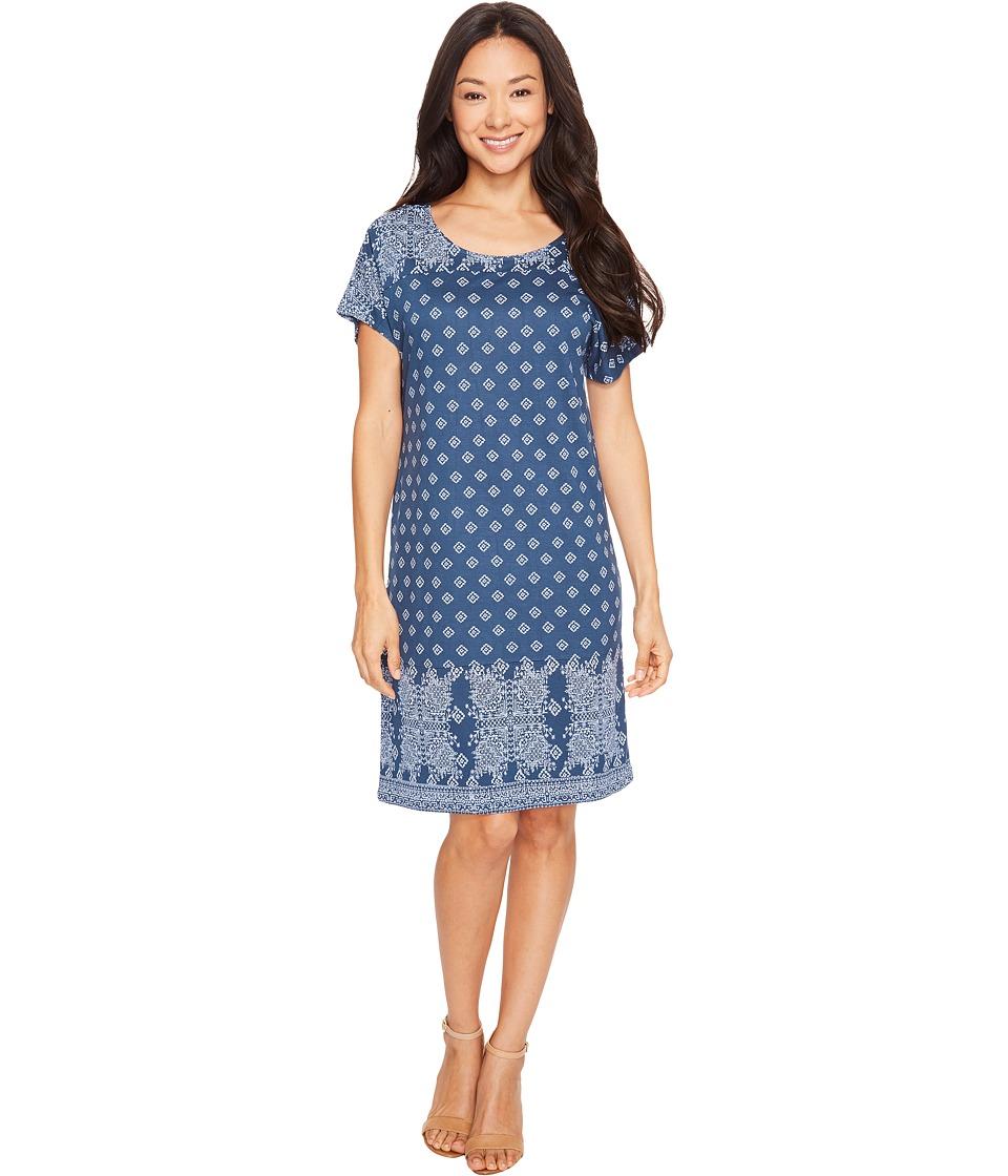Lucky Brand - Tee Dress (Navy Multi) Women's Dress