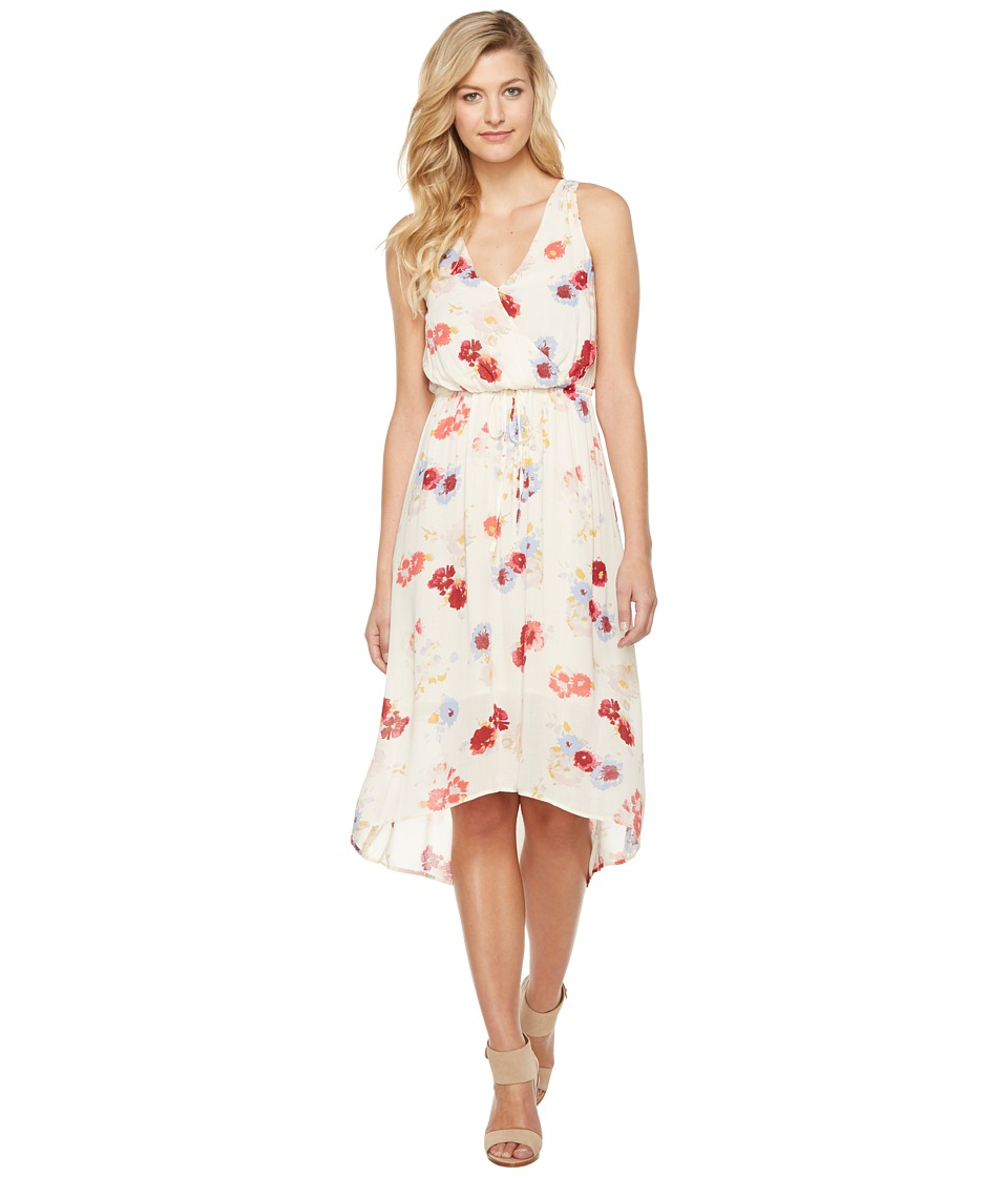 Lucky Brand - Painted Floral Maxi Dress (Natural Multi) Women's Dress