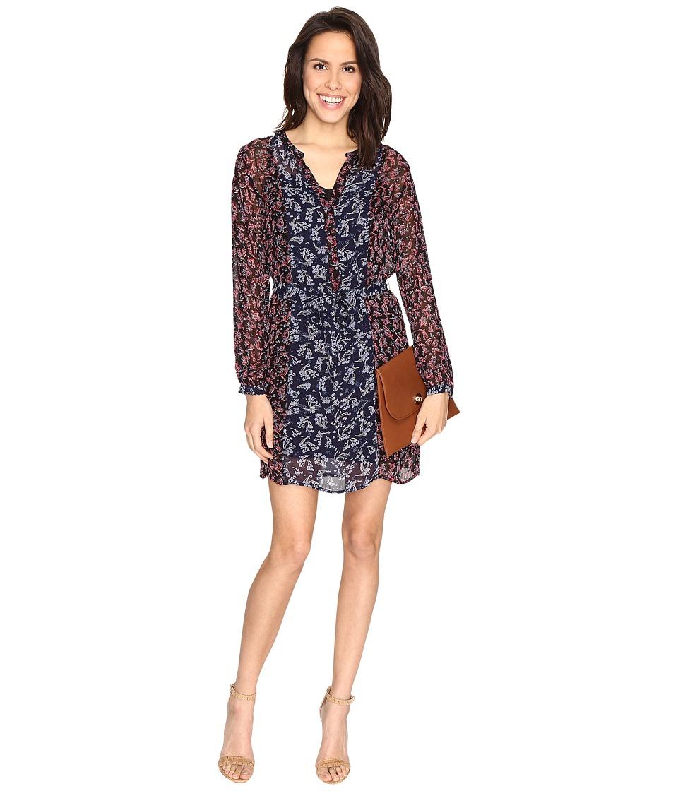 Lucky Brand - Mixed Print Dress (Navy Multi) Women's Dress
