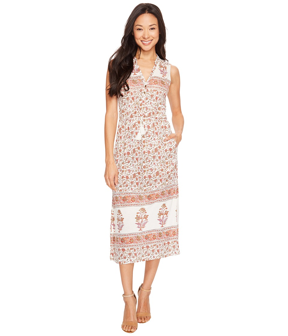 Lucky Brand - Printed Knit Dress (Natural Multi) Women's Dress