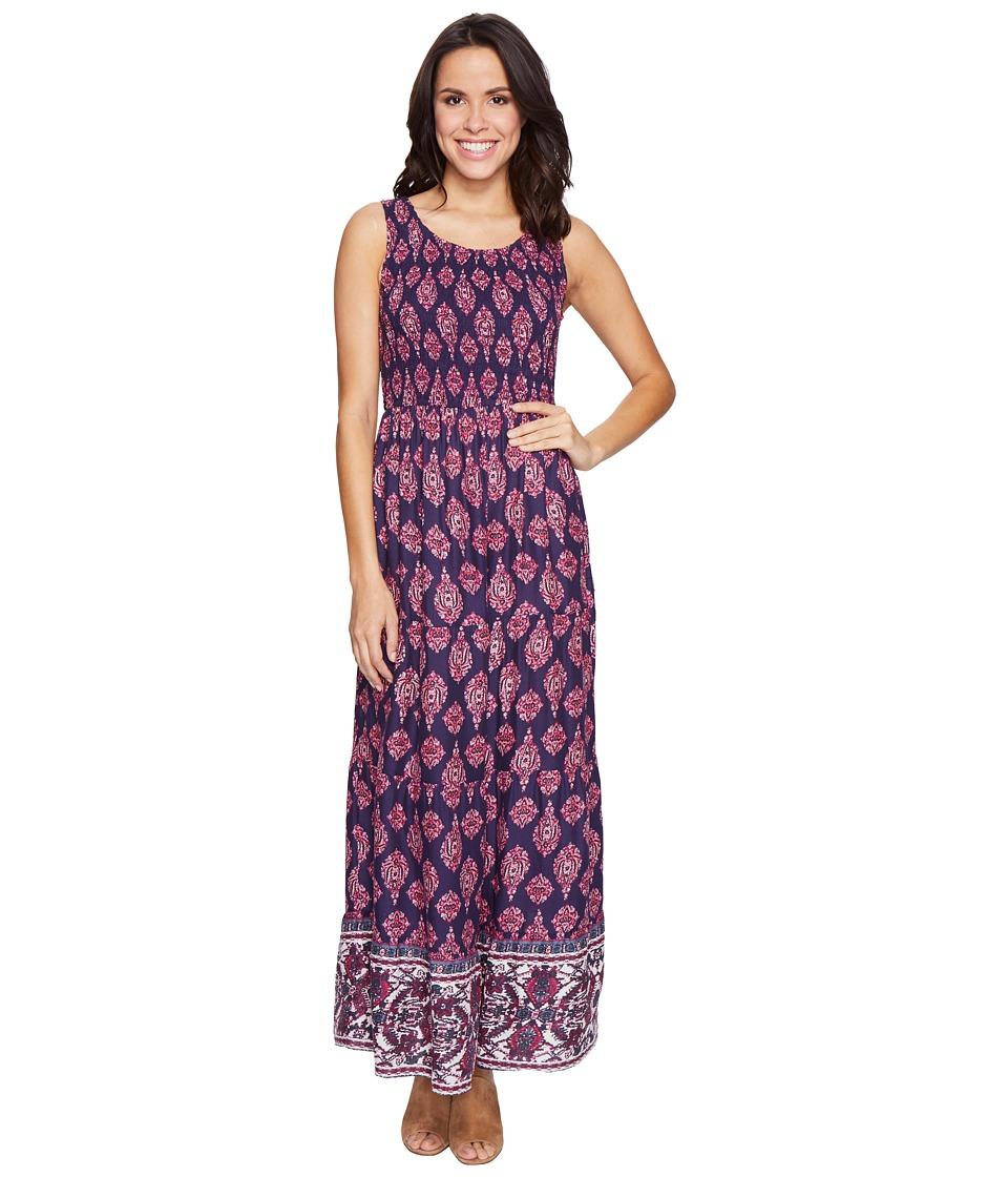 Lucky Brand - Smocked Dress (Navy Multi) Women's Dress