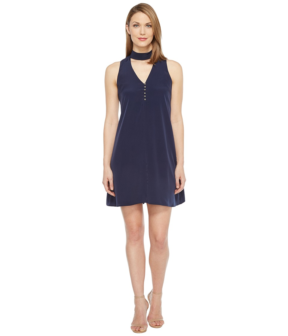 Calvin Klein - Sleeveless Choker Dress with Button (Twilight) Women's Dress