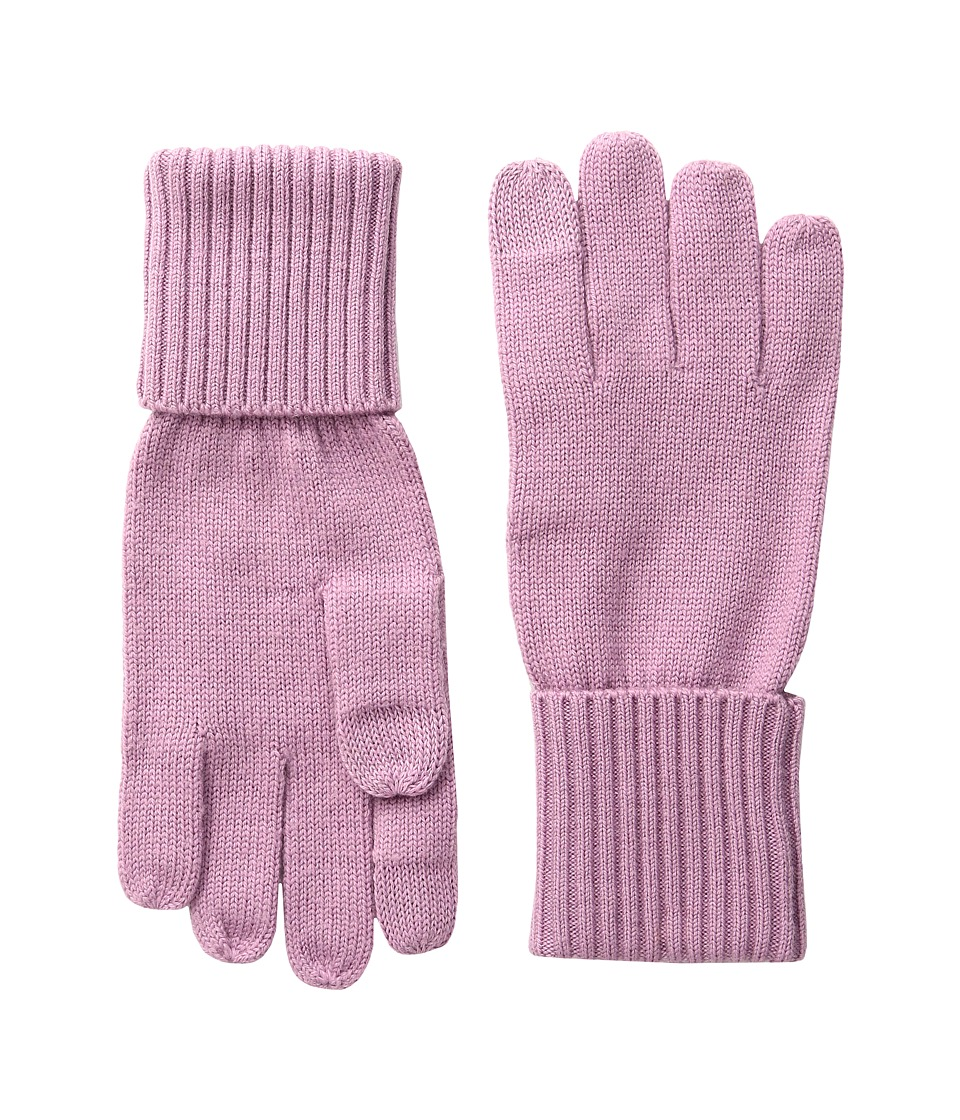 COACH - Knit Tech Gloves (Marshmallow) Extreme Cold Weather Gloves