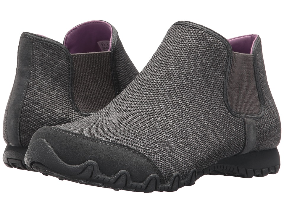 SKECHERS - Bikers - Chelsea Boot (Charcoal) Women's Shoes