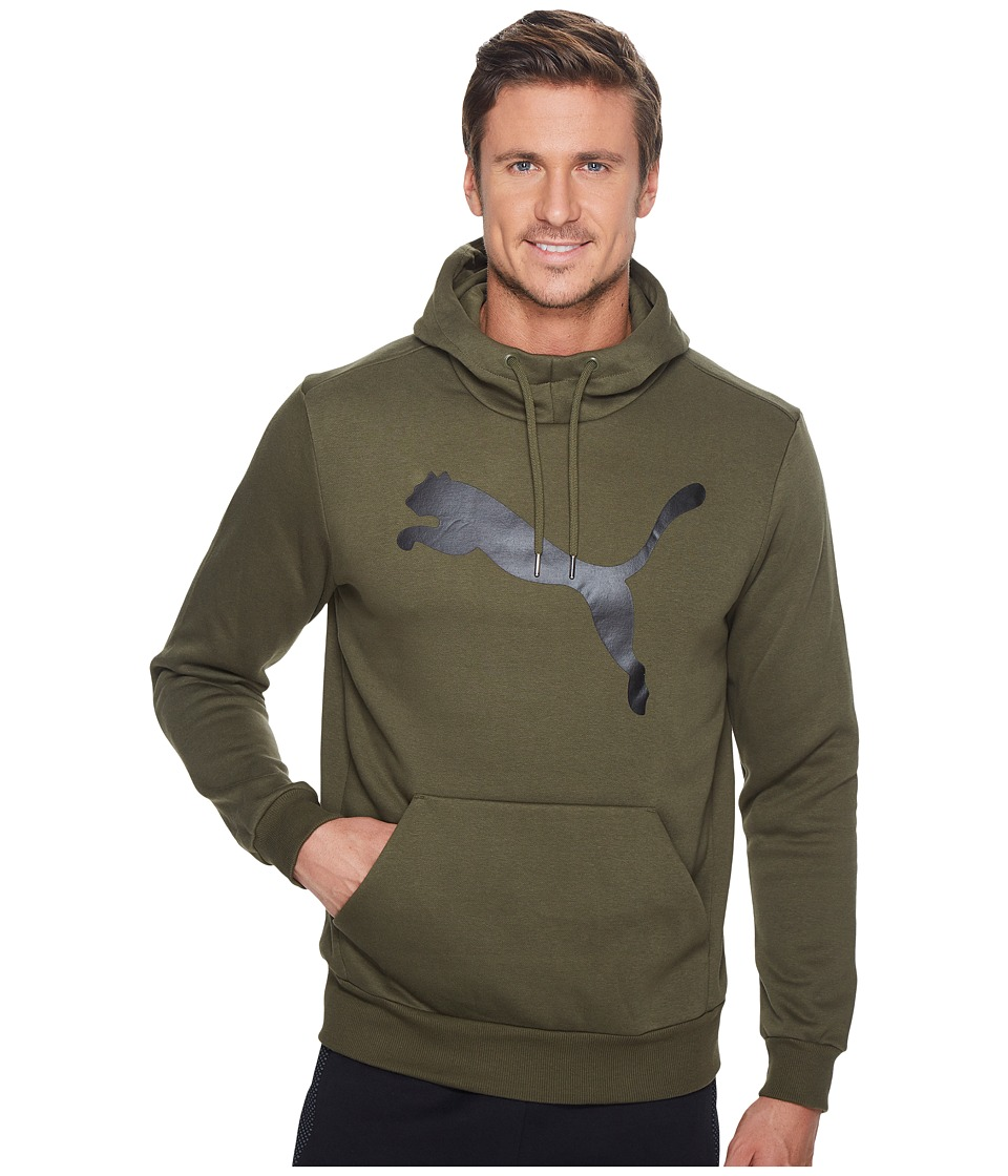 PUMA - Essential Big Cat Hoodie Fleece (Olive Night) Men's Sweatshirt