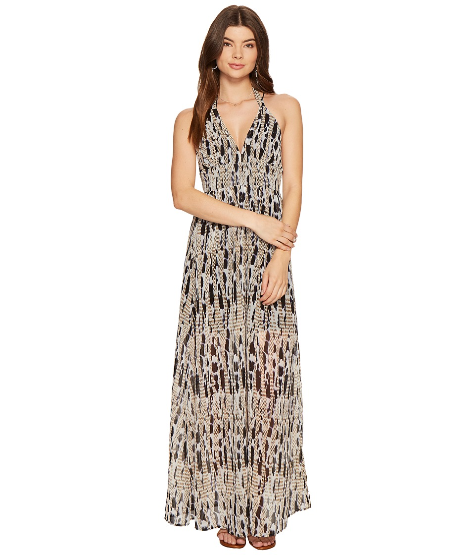 BB Dakota - Willow Printed Maxi Dress (Black) Women's Dress
