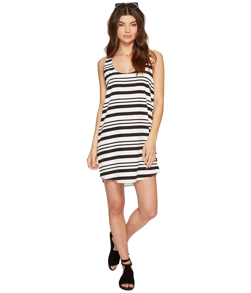 BB Dakota - Rowland Striped Shift Dress (Optic White) Women's Dress