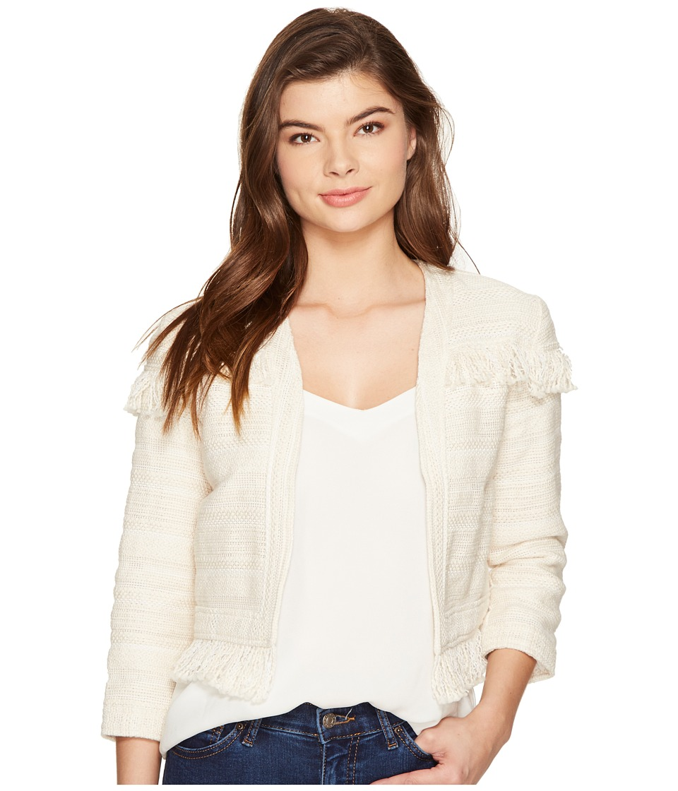 BB Dakota - Nikita Fringe Jacket (Antique Ivory) Women's Coat