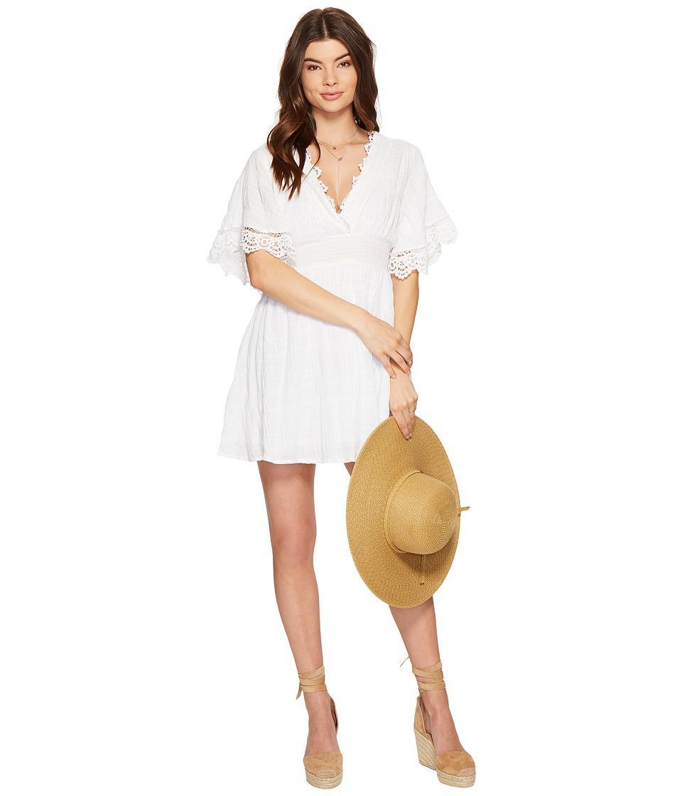 BB Dakota - Ethel Lace Trim Dress (Optic White) Women's Dress