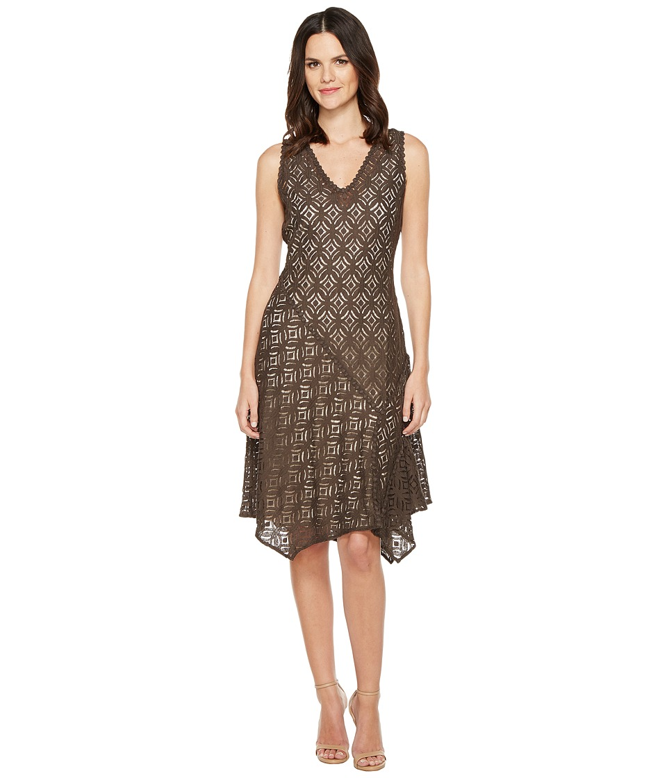 NIC+ZOE - First Bloom Dress (Dark Truffle) Women's Dress