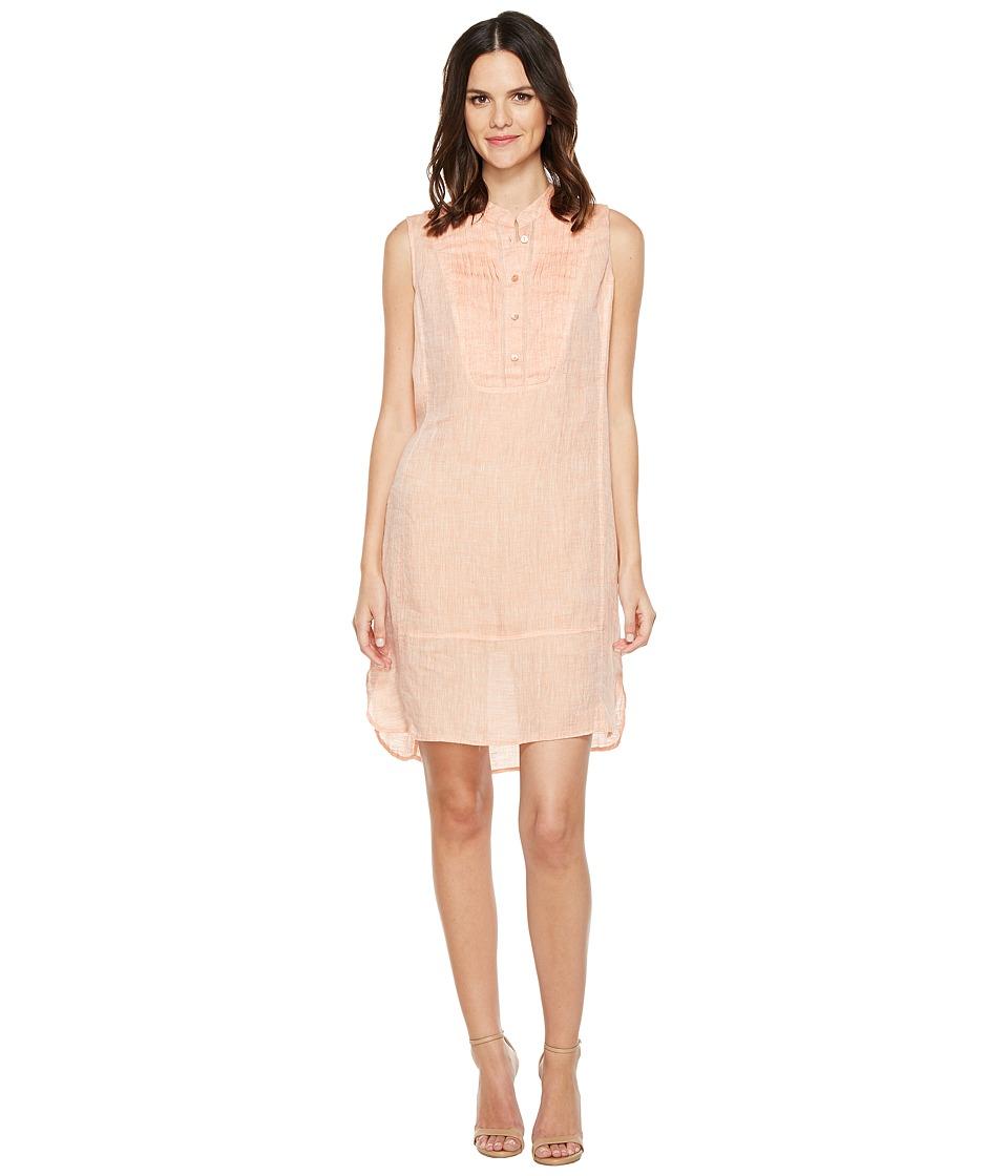 NIC+ZOE Drifty Linen Tunic Dress (Tangerine) Women