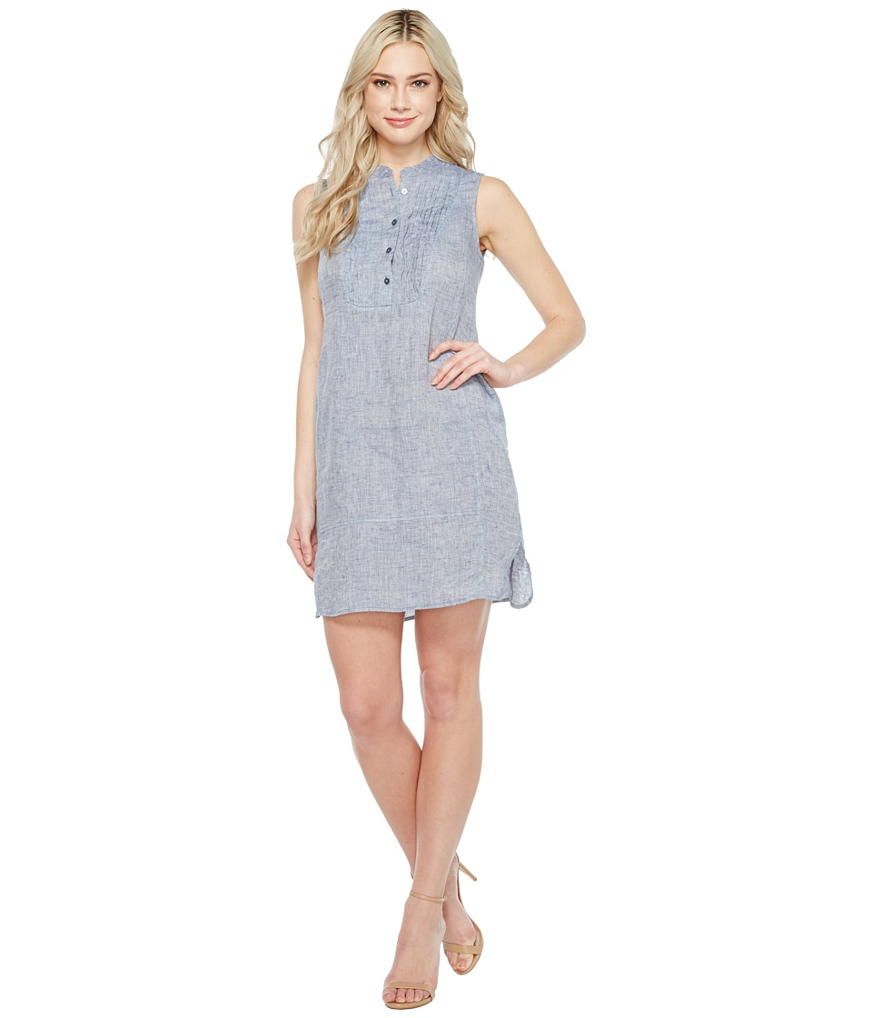 NIC+ZOE - Drifty Linen Tunic Dress (Indigo Mix) Women's Dress