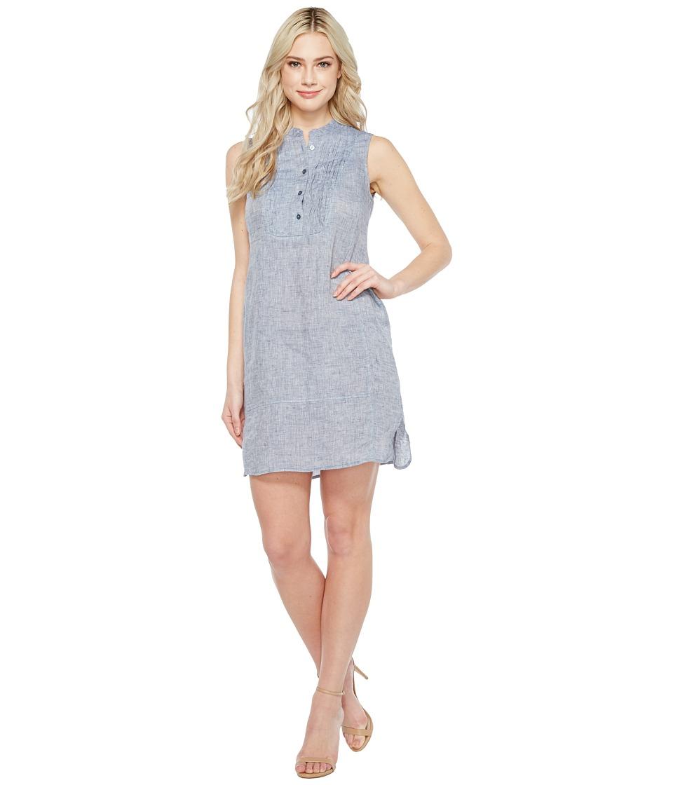 NIC+ZOE - Drifty Linen Tunic Dress (Indigo Mix) Women's Dress