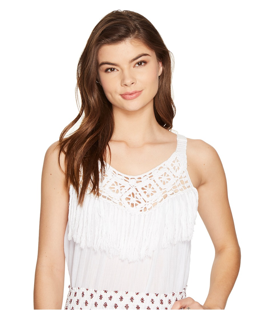 BB Dakota - Hilary Fringe Detailed Top (Optic White) Women's Clothing
