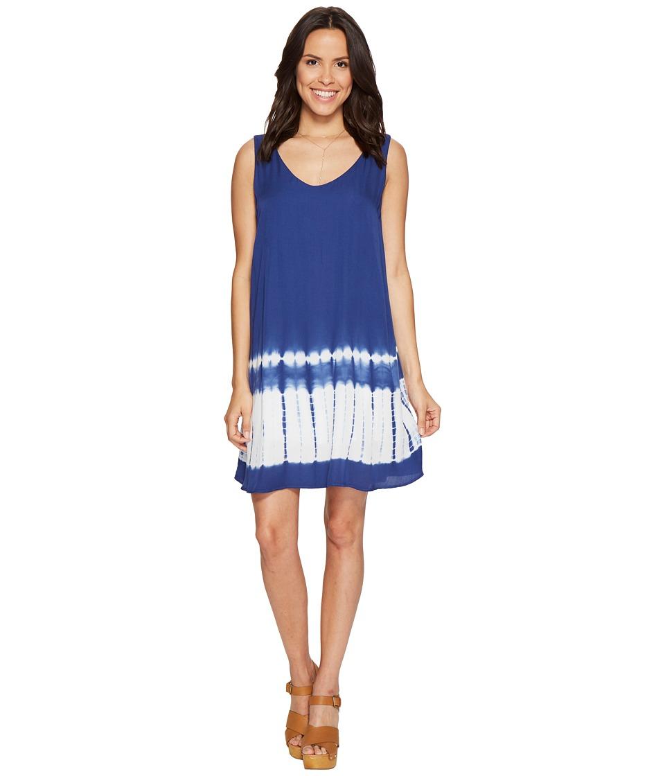 BB Dakota - Lennon Tie-Dye Dress (Indigo) Women's Dress