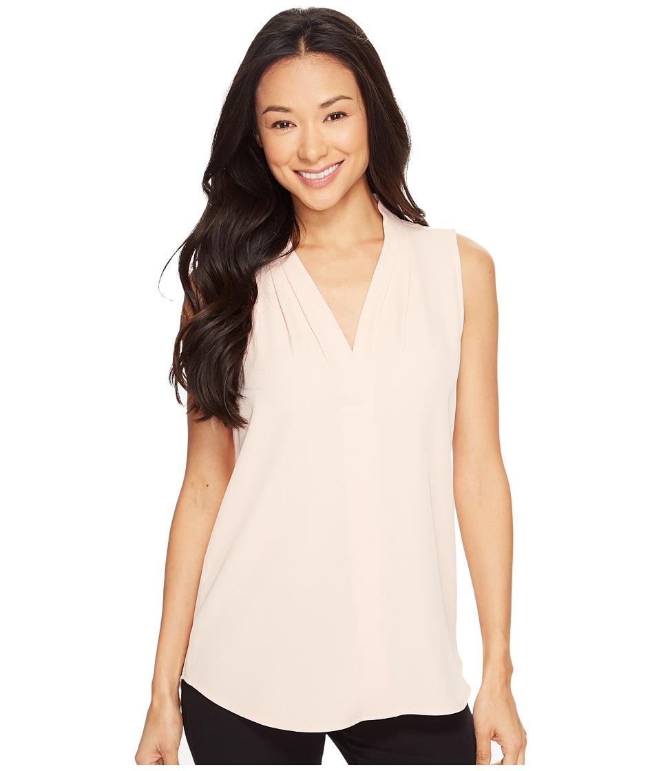 Calvin Klein - Blouse w/ Inverted Pleat (Blush) Women's Sleeveless