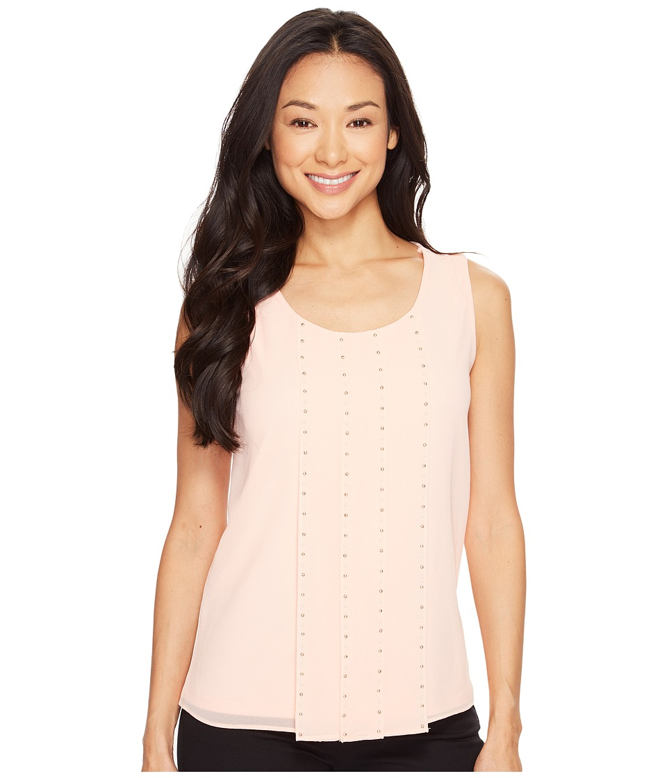 Calvin Klein - Sleeveless Top with Stud Detail (Nectar) Women's Sleeveless