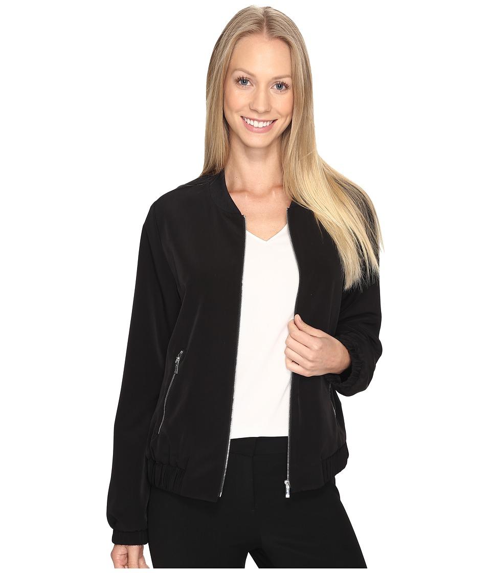 Calvin Klein - Solid Bomber Jacket (Black) Women's Coat
