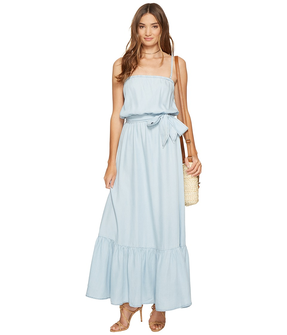 BB Dakota - Kate Chambray Maxi Dress (Light Blue) Women's Dress