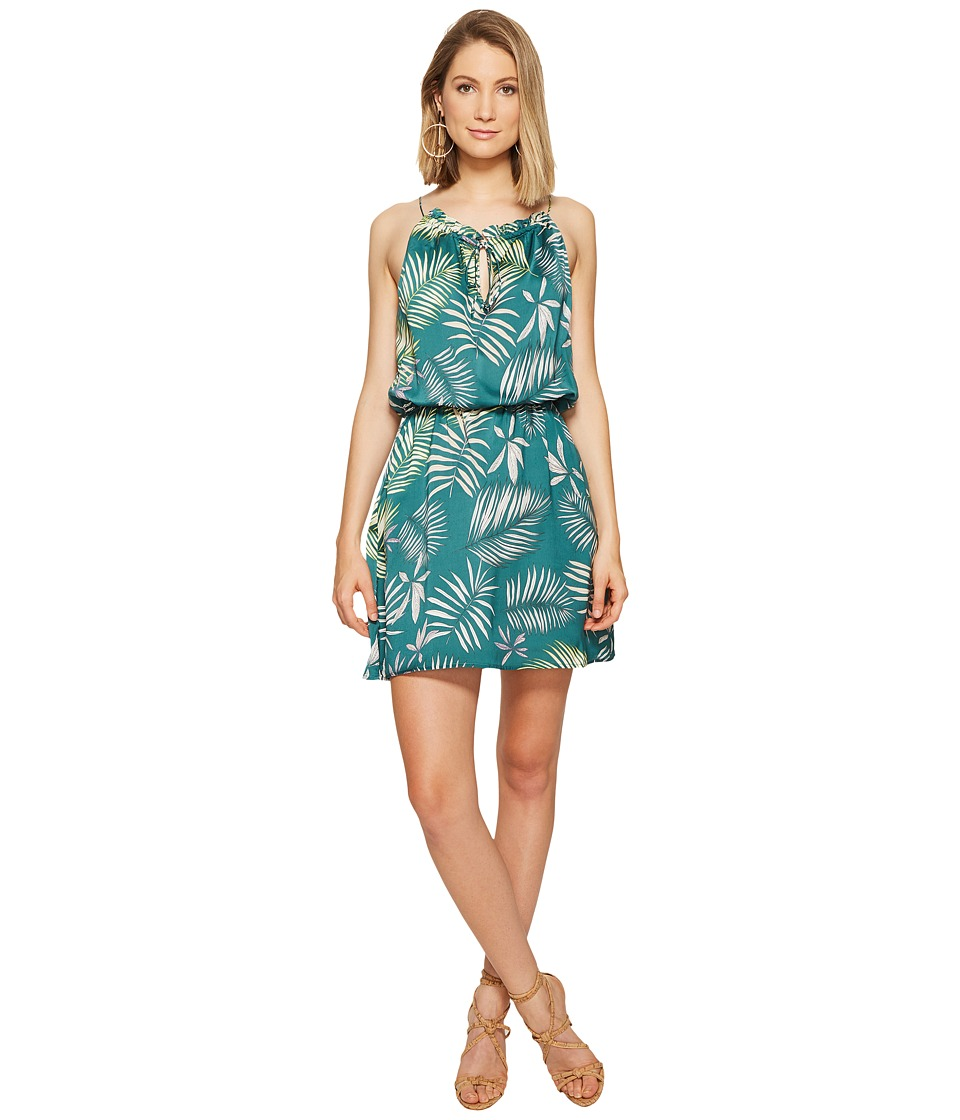 BB Dakota - Brooks Palm Printed Dress (Cool Green) Women's Dress
