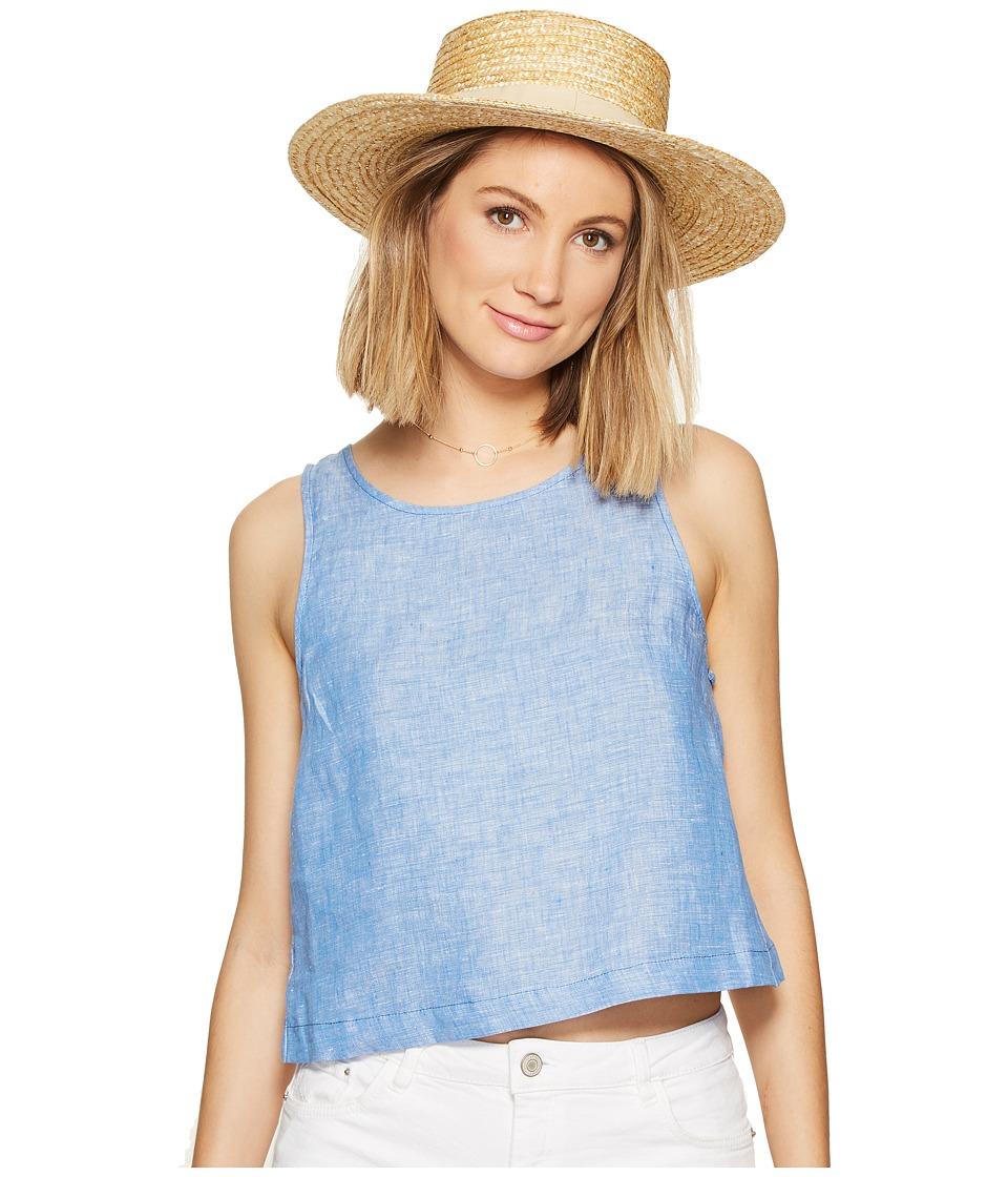 BB Dakota - Rylan Linen Chambray Top (Medium Blue) Women's Clothing