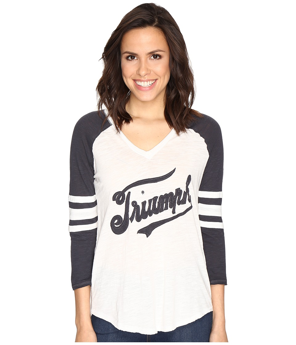 Lucky Brand Triumph Football Tee (Jet Stream) Women