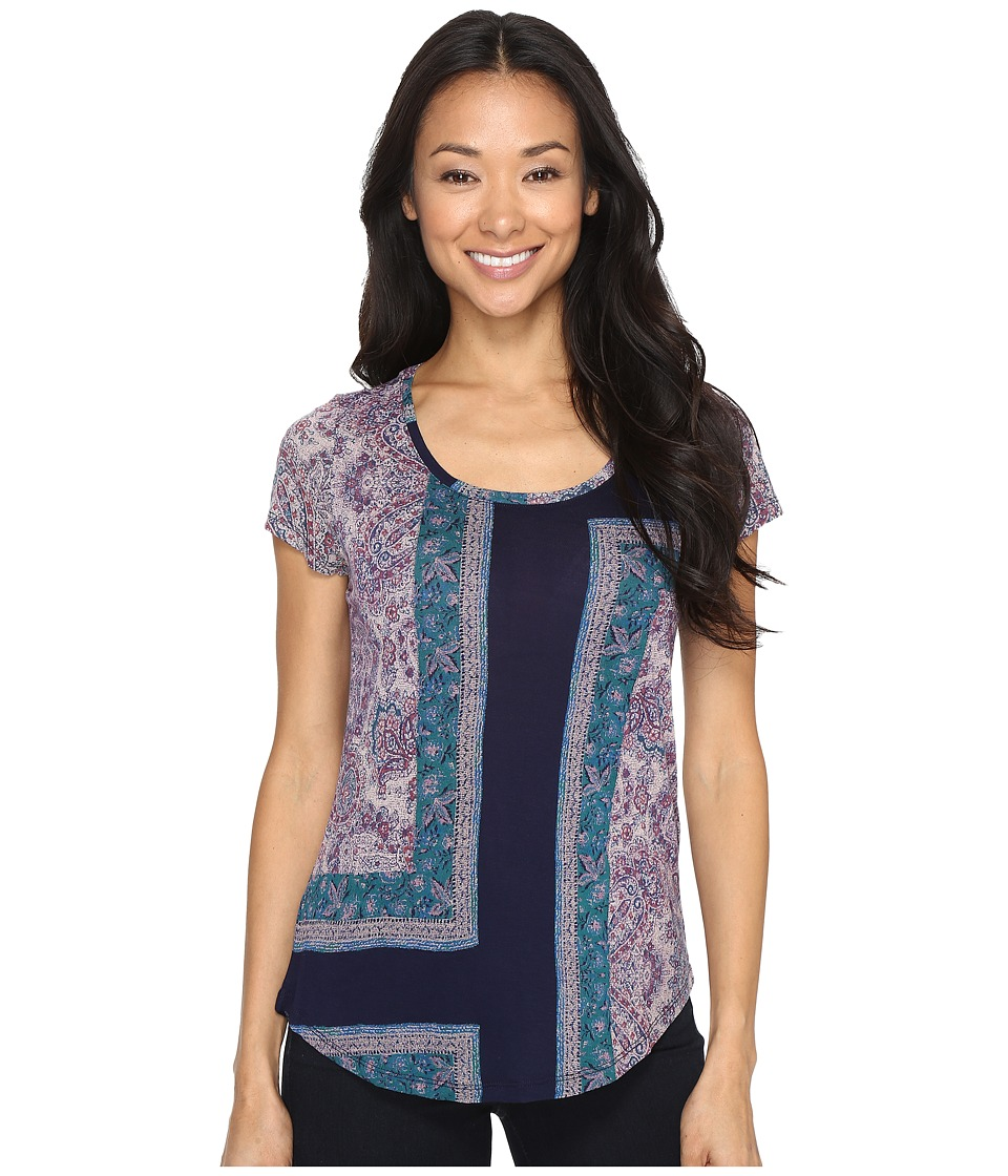 Lucky Brand - Mixed Rug Tee (American Navy) Women's T Shirt