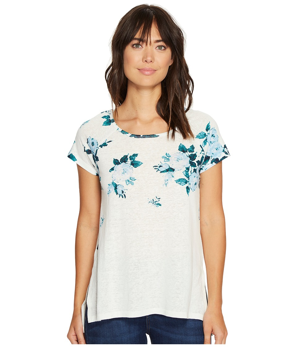 Lucky Brand - All Flower Tee (Blue Multi) Women's T Shirt