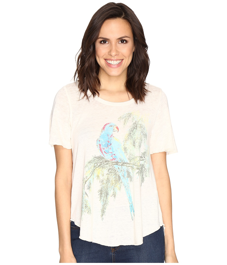 Lucky Brand Parrot Branch Tee (Jet Stream) Women