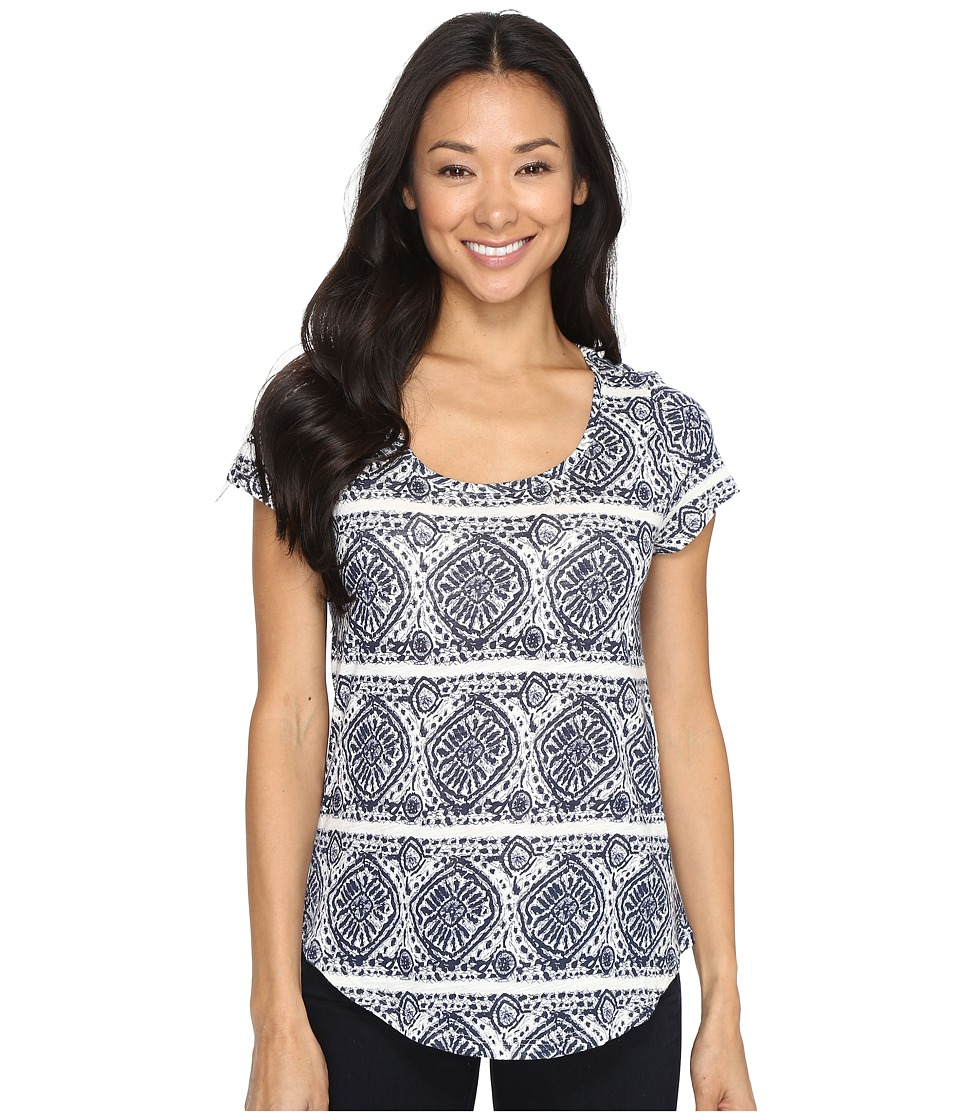 Lucky Brand - Geo Striped Tee (Blue Multi) Women's T Shirt