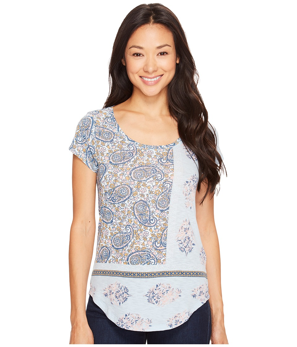 Lucky Brand Paisley Mixed Tee (Celestial Blue) Women