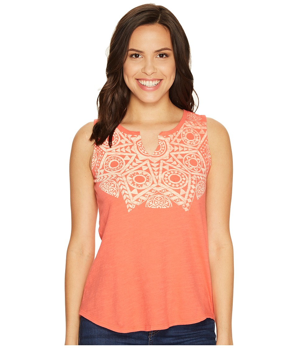 Lucky Brand - Mosaic Star Tee (Coral Quarts) Women's Sleeveless
