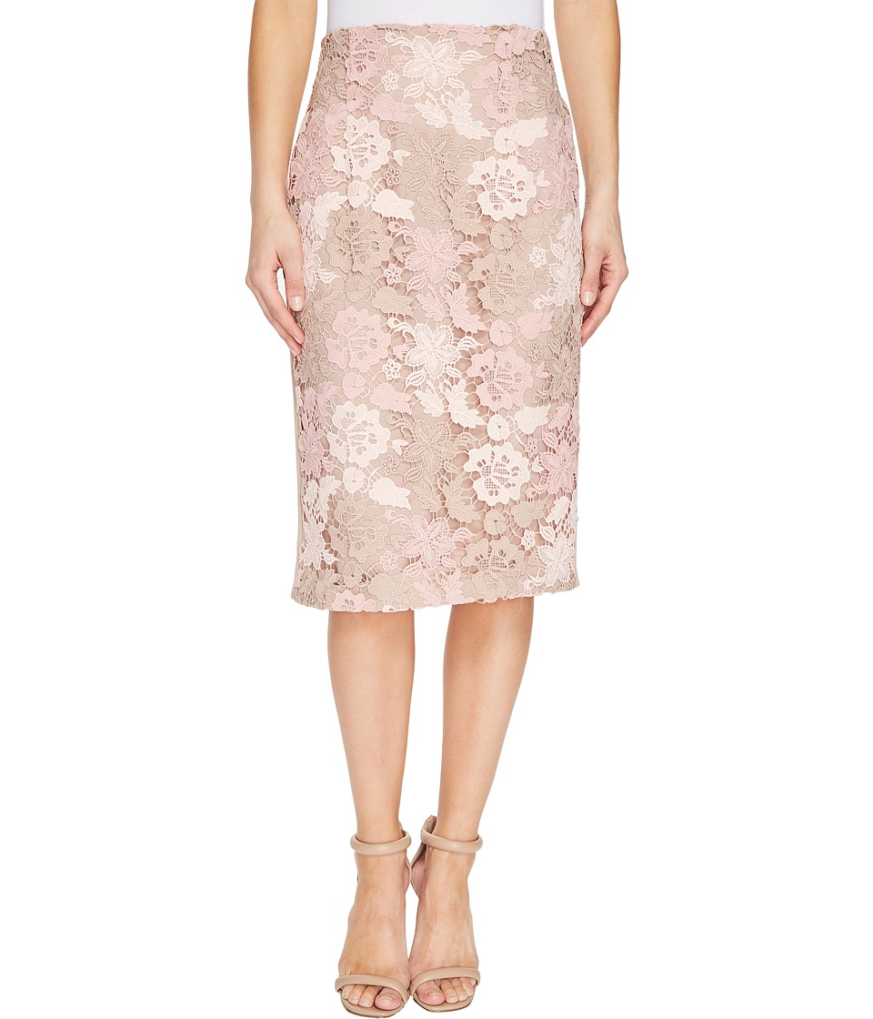 Calvin Klein - Lace Pencil Skirt (Latte Multi/Latte Combo) Women's Skirt