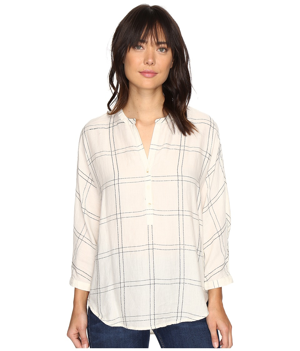 Lucky Brand - White Plaid Shirt (Natural Multi) Women's Clothing