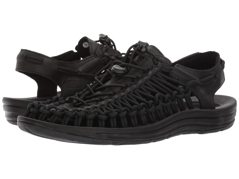 Keen - Uneek Leather (Black/Raven) Men's Shoes