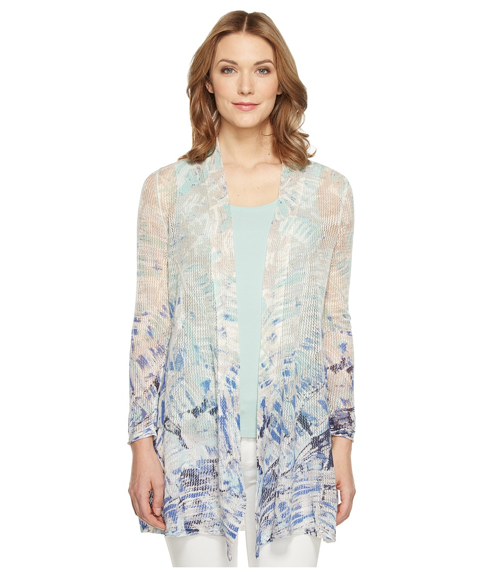 NIC+ZOE - Azure Cardy (Multi) Women's Sweater