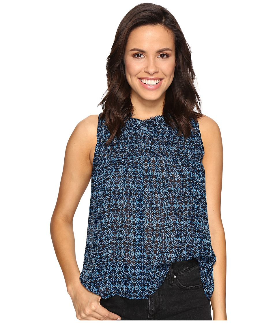 Lucky Brand - Rouched Yoke Tank Top (Blue Multi) Women's Clothing