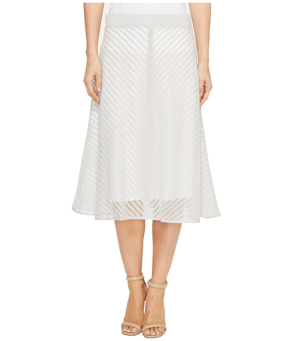 NIC+ZOE Sheer Stripe Skirt (Smoke) Women