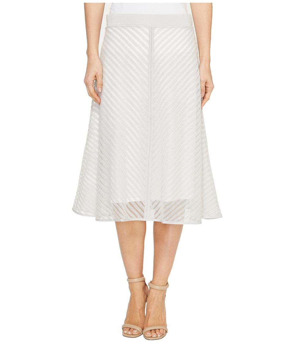 NIC+ZOE Sheer Stripe Skirt (Smoke) Women