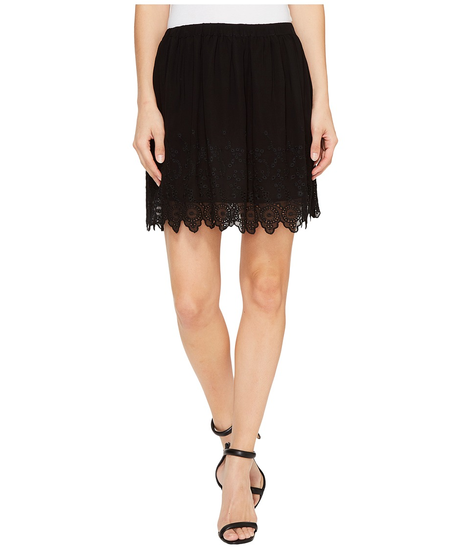 Lucky Brand Black Lace Skirt (Jet Black) Women