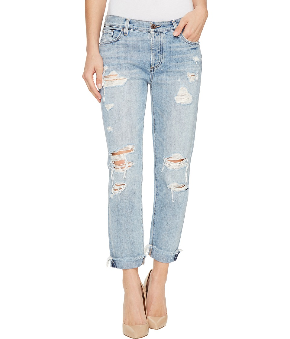 Lucky Brand - Sienna Slim Boyfriend in Rainfall with Destruction (Rainfall/Destruction) Women's Jeans