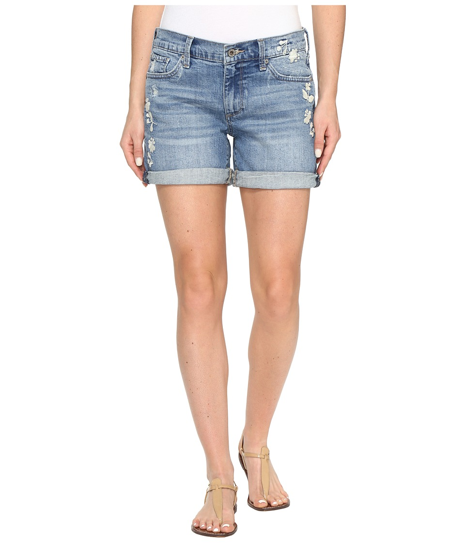 Lucky Brand The Roll Up Shorts in Blue Palms (Blue Palms) Women