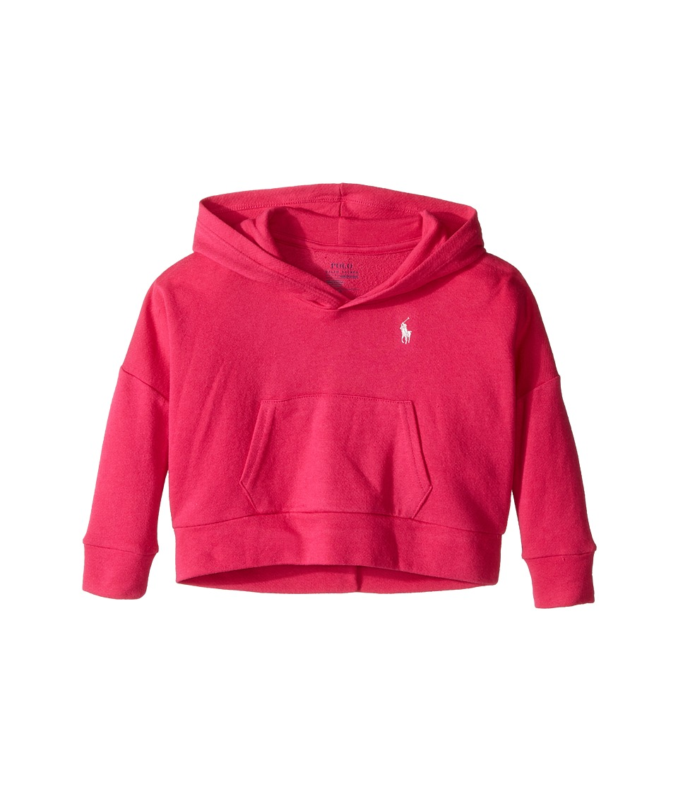 Polo Ralph Lauren Kids - Cotton Modal Hoodie (Toddler) (Hibiscus Pink) Girl's Sweatshirt