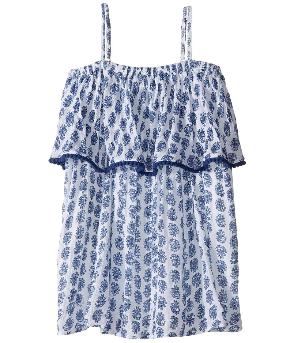 Polo Ralph Lauren Kids - Gauze Print Maxi Dress (Toddler) (Blue Paisley) Girl's Dress