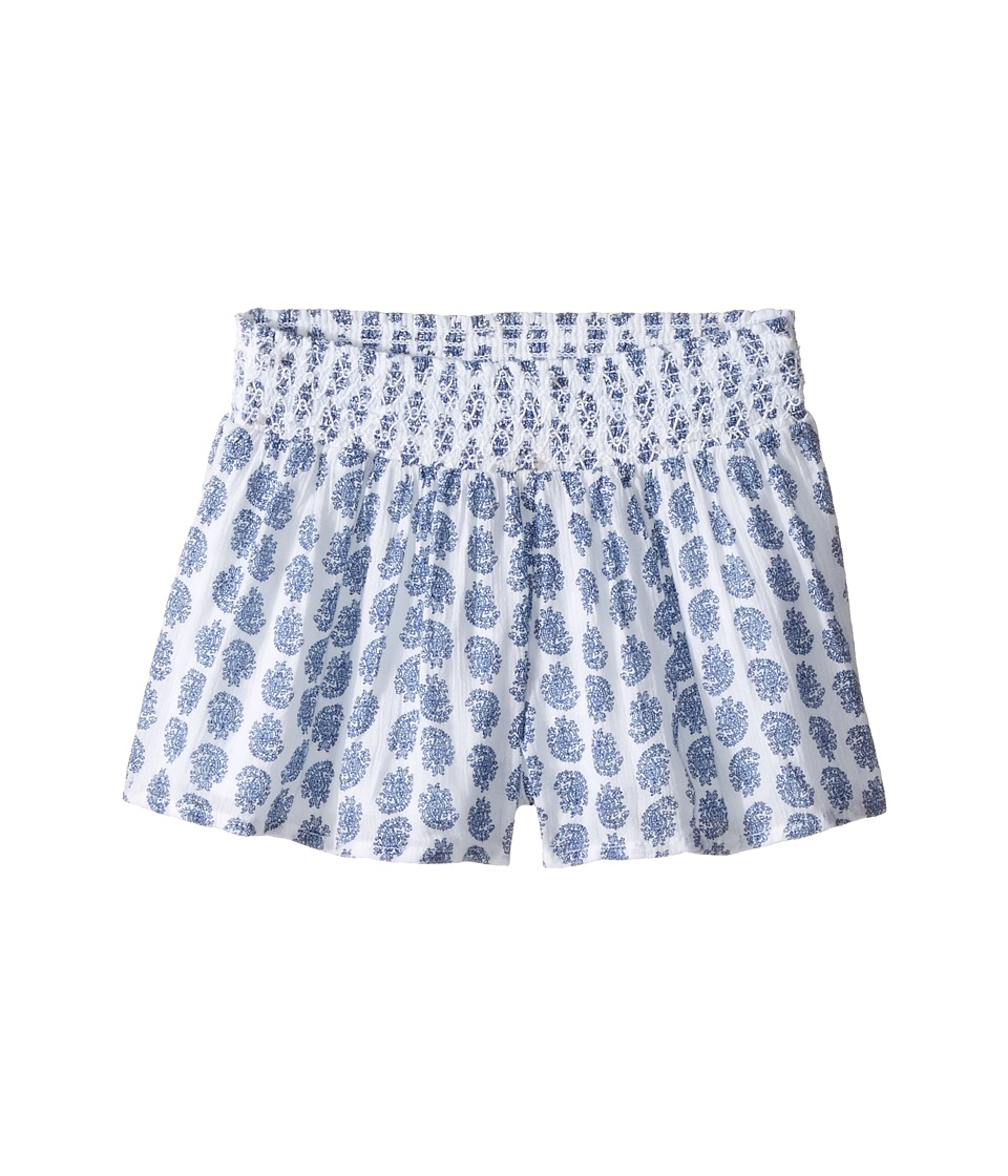 Polo Ralph Lauren Kids - Cotton Paisley Shorts (Toddler) (Blue Paisley) Girl's Shorts
