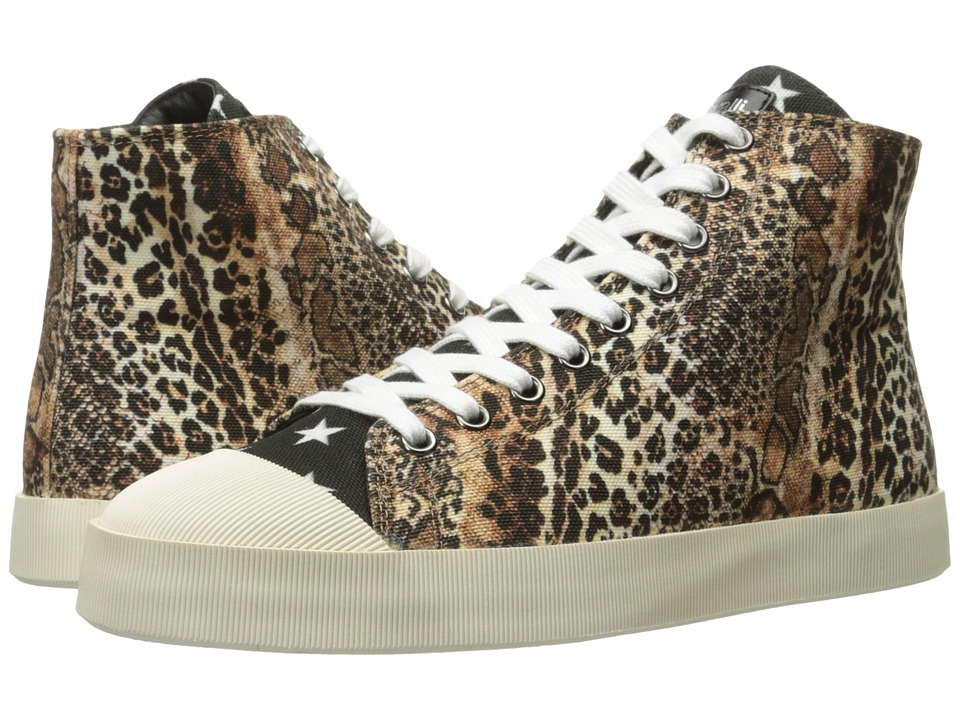 Just Cavalli Mixed Printed Canvas High Tops (Natural) Women