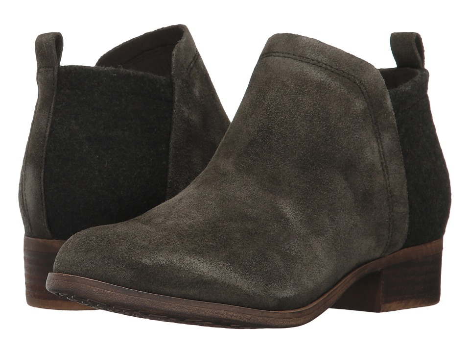 TOMS Deia Bootie (Forest Suede/Tribal Stripe) Women