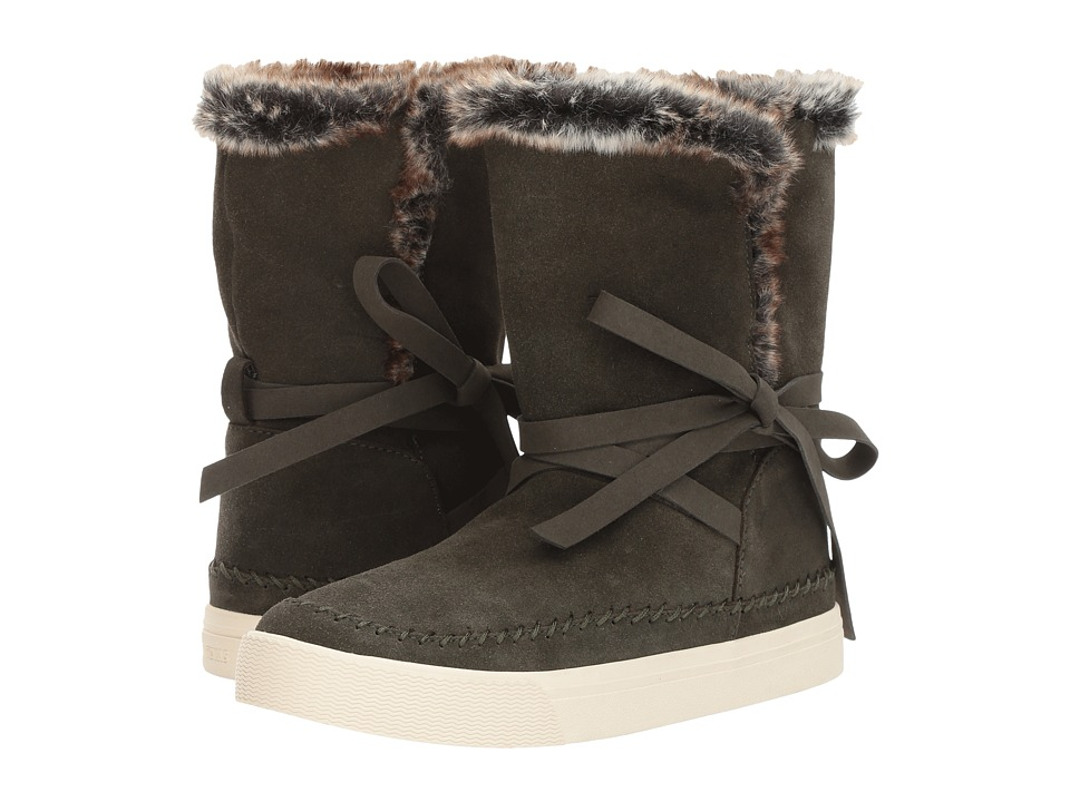 TOMS Vista (Forest Waterproof Suede/Faux Fur) Women