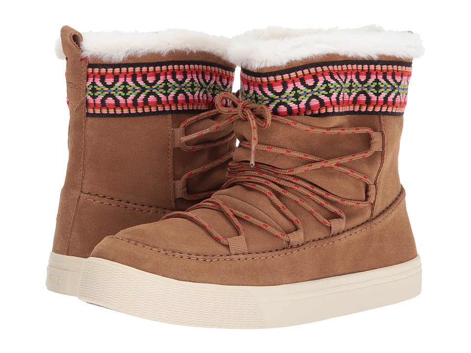 TOMS Alpine (Toffee Waterproof Suede/Tribal Webbing) Women