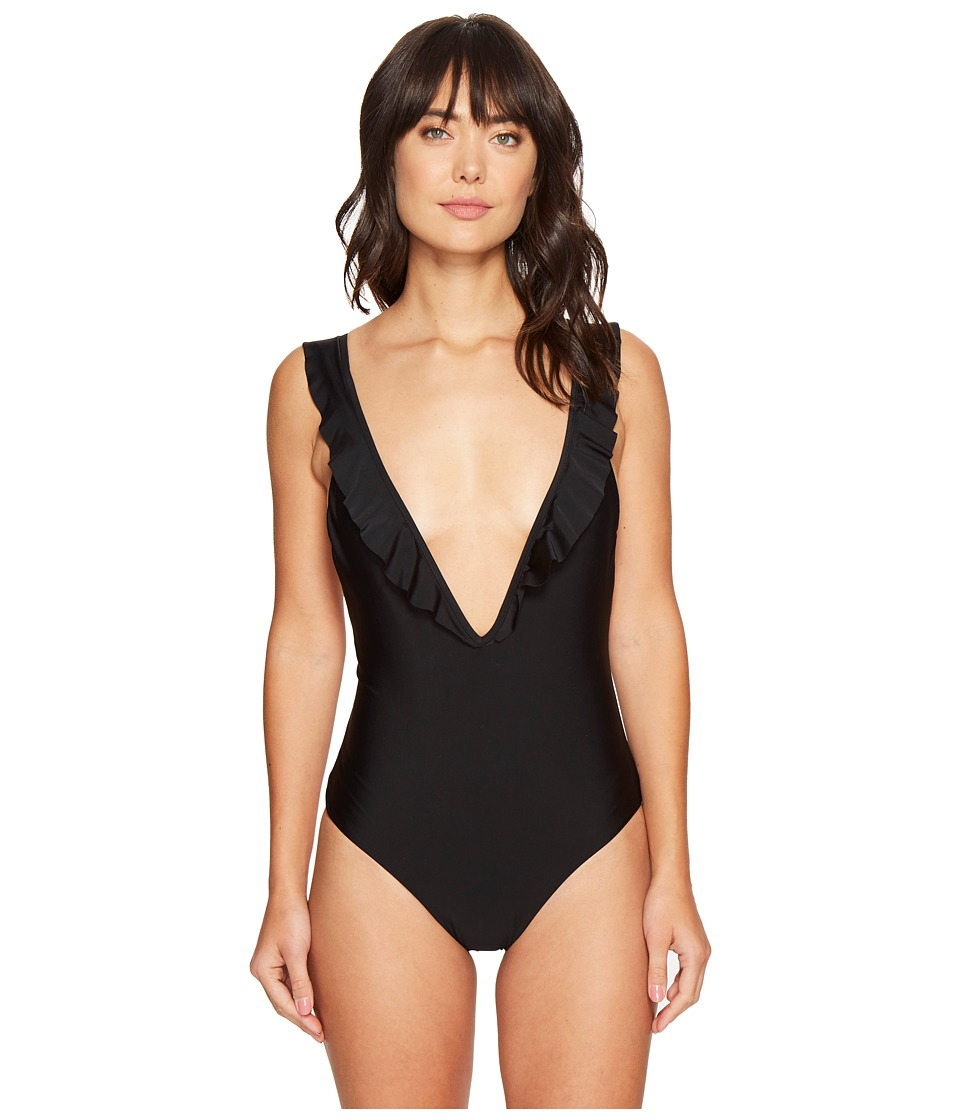 6 Shore Road by Pooja - Oasis One-Piece (Black Rock) Women's Swimsuits One Piece